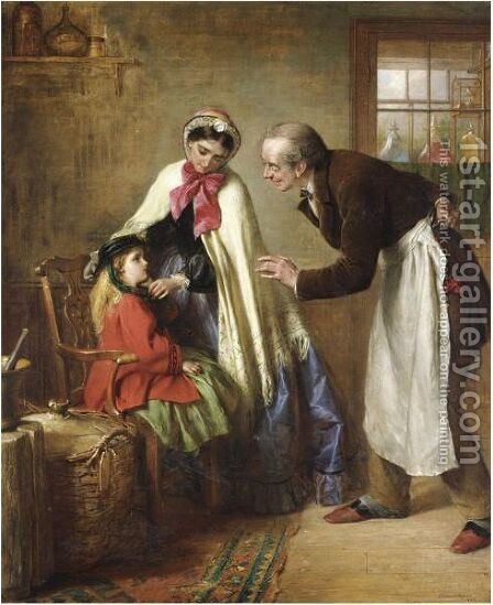 A First Visit To The Dentist by Edward Hughes - Reproduction Oil Painting
