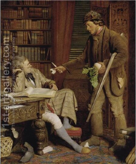 The Squire And The Gamekeeper by (after) James Lobley - Reproduction Oil Painting