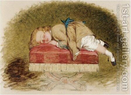 Exhausted by Henry Lejeune - Reproduction Oil Painting