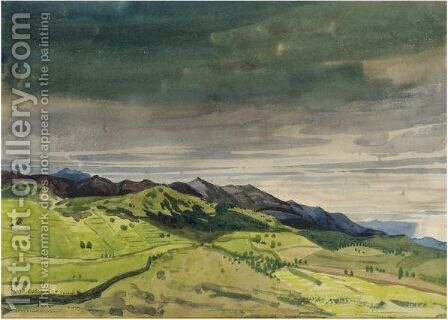 Near Collioure In The Pyrenees by Derwent Lees - Reproduction Oil Painting