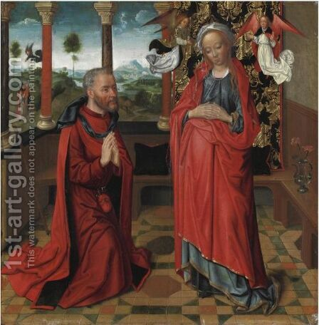 Benedizione Della Vergine by (after) Memling, Hans - Reproduction Oil Painting