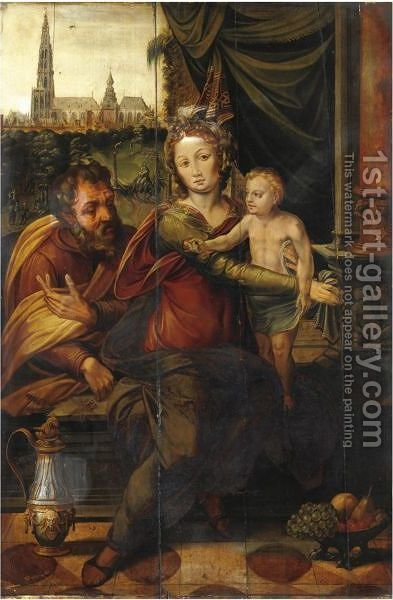 Sacra Famiglia 2 by Italian School - Reproduction Oil Painting