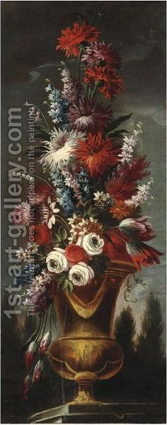 Natura Morta Con Vaso Di Fiori 2 by (after) Gasparo Lopez - Reproduction Oil Painting