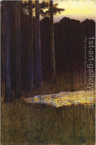La Foret Le Soir by Alphonse Osbert - Reproduction Oil Painting