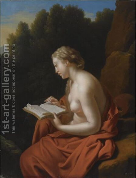 The Penitent Mary Magdalene by (after) Adriaen Van Der Werff - Reproduction Oil Painting
