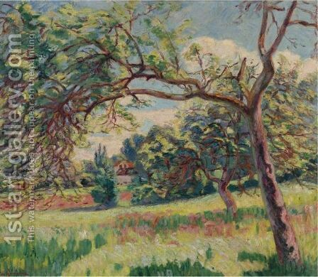 Paysage 4 by Armand Guillaumin - Reproduction Oil Painting