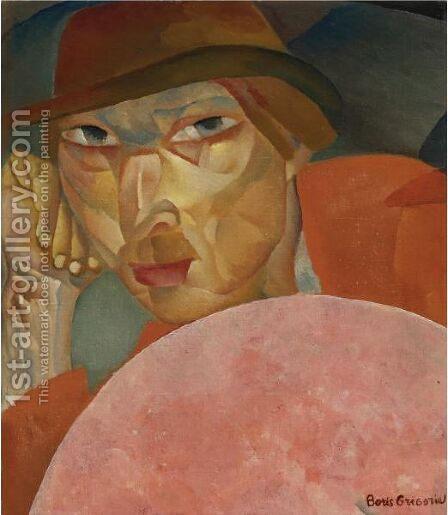 Russian Man by Boris Dmitrievich Grigoriev - Reproduction Oil Painting