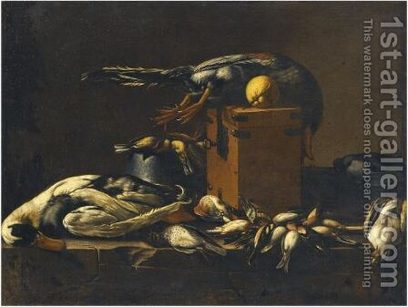 A Still Life With Game On A Ledge by (after) Evaristo Baschenis - Reproduction Oil Painting