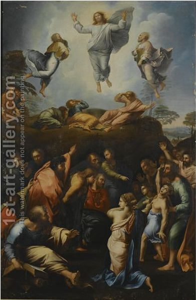 The Transfiguration by (after) Raphael (Raffaello Sanzio of Urbino) - Reproduction Oil Painting