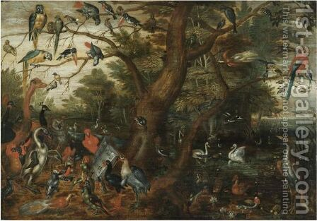 A Concert Of Birds by (after) Jan Van Kessel - Reproduction Oil Painting