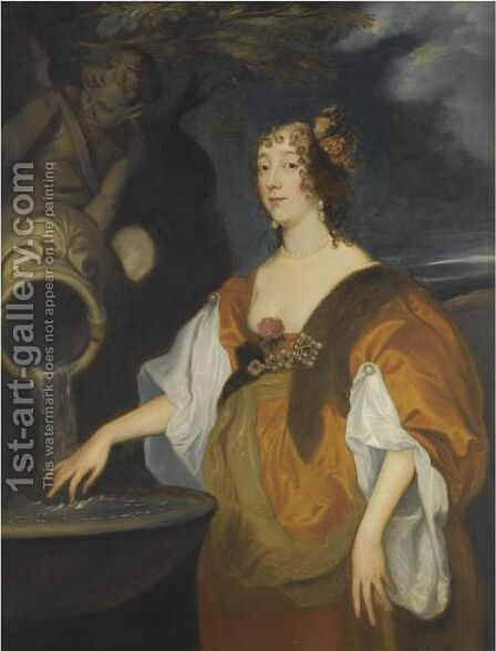 Portrait Of Lucy, Countess Of Carlisle by (after) Dyck, Sir Anthony van - Reproduction Oil Painting