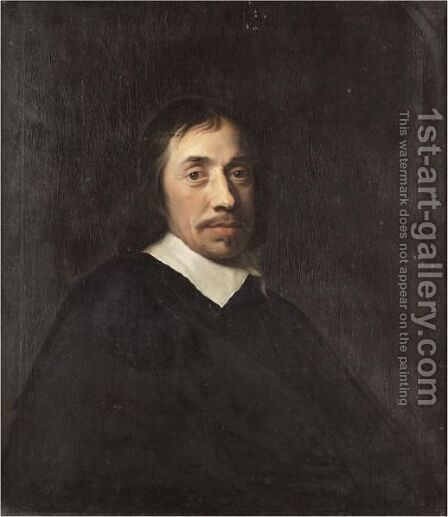 Portrait Of A Gentleman, Half Length, Wearing Black by (after) Ludolf De Jongh - Reproduction Oil Painting