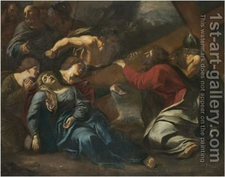 Christ On The Road To Calvary by (after) Sisto Badalocchio - Reproduction Oil Painting