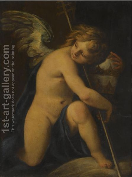 An Angel Holding A Papal Tiara by (after) Carlo Francesco Nuvolone - Reproduction Oil Painting