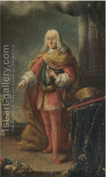Portrait Of Francesco Grimani (1702-1779) by Alessandro Longhi - Reproduction Oil Painting