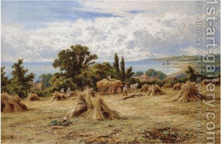 Harvest Time On The Sussex Coast by Henry Hillier Parker - Reproduction Oil Painting