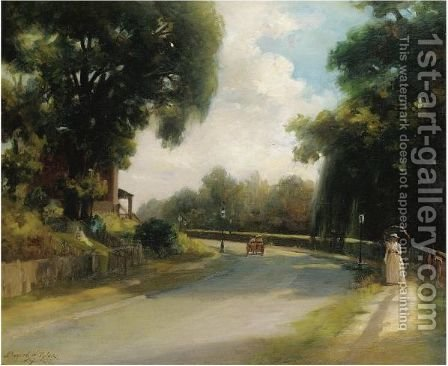 Afternoon On The Avenue by Bayard Henry Tyler - Reproduction Oil Painting