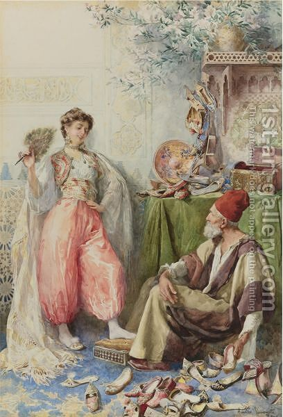 The Harem's Cobbler by Amedeo Momo Simonetti - Reproduction Oil Painting
