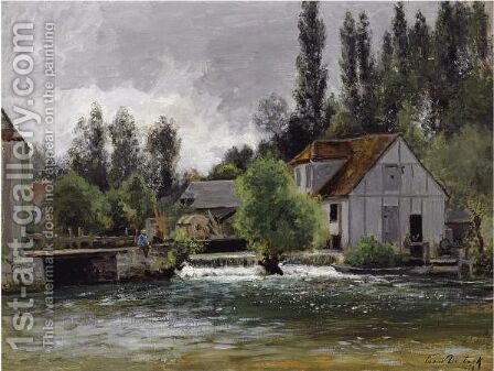 The Watermill by Cesar De Cock - Reproduction Oil Painting