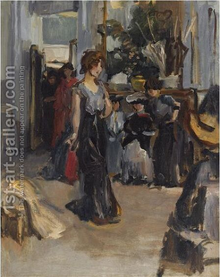 A Fashion Show For Clients At Hirsch, Amsterdam by Isaac Israels - Reproduction Oil Painting