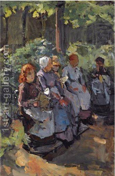A Sunny Moment In The Park, Amsterdam by Isaac Israels - Reproduction Oil Painting