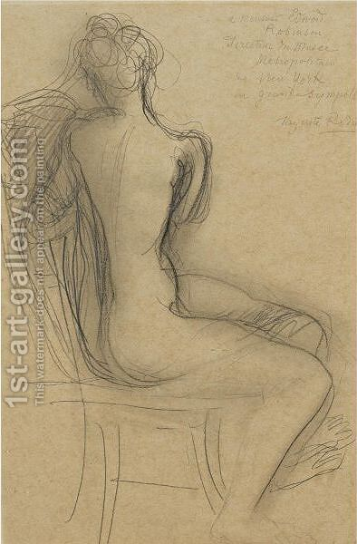 Seated Nude by Auguste Rodin - Reproduction Oil Painting