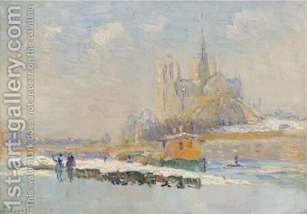 Notre Dame De Paris Et Le Quai De La Tournelle by Albert Lebourg - Reproduction Oil Painting