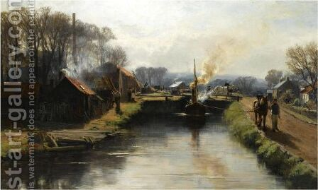 The Towpath by David Farquharson - Reproduction Oil Painting