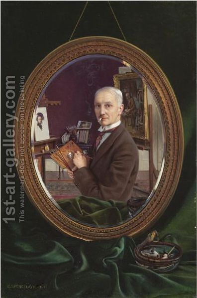 My Reflection by Charles Spencelayh - Reproduction Oil Painting