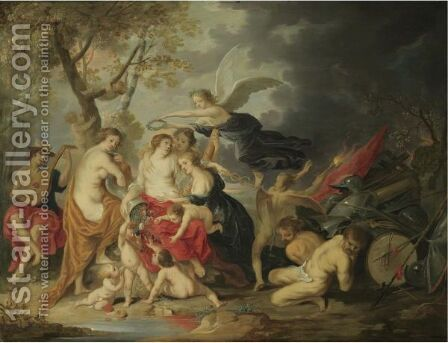 The Triumph Of Peace by (after) Guilliam The Younger Forchondt - Reproduction Oil Painting