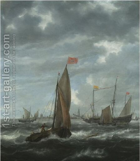 Merchantmen And Other Shipping Off Flushing by (after) Jan Peeters - Reproduction Oil Painting