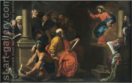 Christ Among The Doctors by Giovanni Battista Merano - Reproduction Oil Painting