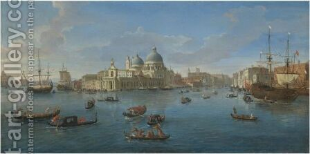 Venice, A View Of The Bacino Di San Marco Looking West With The Punta Della Dogana And The Entrance To The Grand Canal by Caspar Andriaans Van Wittel - Reproduction Oil Painting