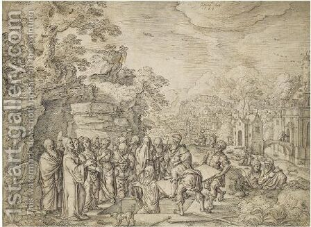 The Raising Of Lazarus by Hans Bol - Reproduction Oil Painting