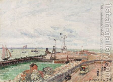 La Jetee Et La Semaphore Du Havre by Camille Pissarro - Reproduction Oil Painting