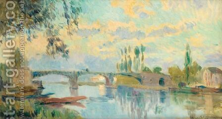 Le Pont De Chatou by Albert Lebourg - Reproduction Oil Painting