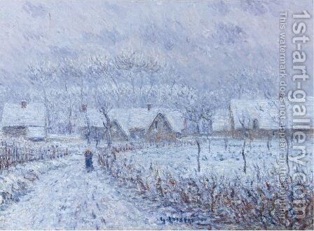 Apres La Rafale De Neige Du 24 Mars 1899, Saint-Cyr-Du-Vaudreuil by Gustave Loiseau - Reproduction Oil Painting