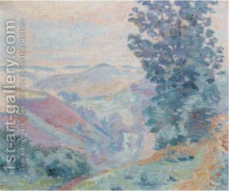 Le Puy Bariou by Armand Guillaumin - Reproduction Oil Painting