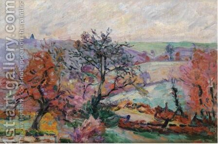 Vue De Crozant by Armand Guillaumin - Reproduction Oil Painting