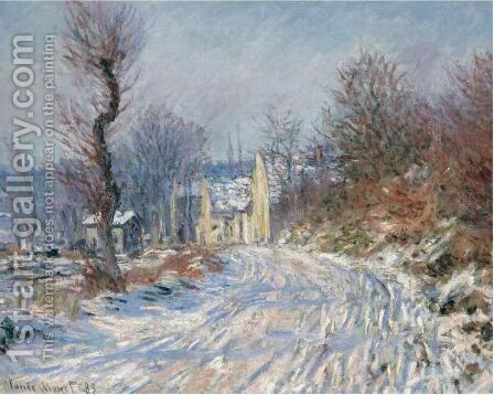 Route De Giverny En Hiver by Claude Oscar Monet - Reproduction Oil Painting