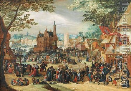La Kermesse De La Saint-Georges by (after) David Vinckboons - Reproduction Oil Painting