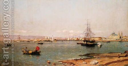 L'Entree Du Port De Marseille by Alfred Casile - Reproduction Oil Painting