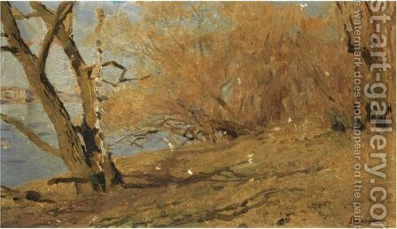 Lakeside Landscape by Isaak Ilyich Levitan - Reproduction Oil Painting