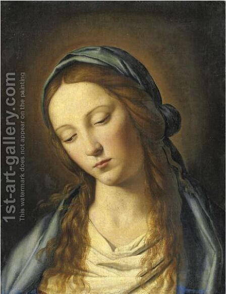 Madonna 2 by (after) Giovanni Battista Salvi, Il Sassoferato - Reproduction Oil Painting