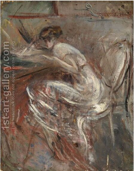 Studio Di Donna Che Scrive by Giovanni Boldini - Reproduction Oil Painting