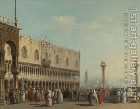 Piazza San Marco by (after) (Giovanni Antonio Canal) Canaletto - Reproduction Oil Painting