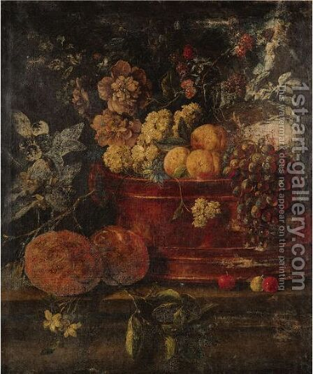 Floral Still Life by Italian School - Reproduction Oil Painting