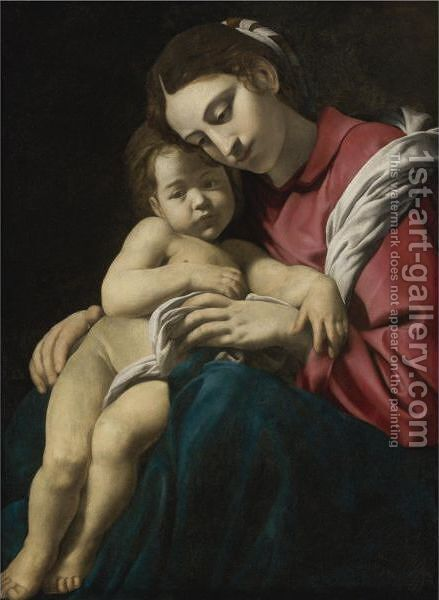 Madonna And Child by Giovanni Battista Caracciolo - Reproduction Oil Painting