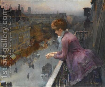 Au Dessus Du Boulevard De Sebastopol, Paris by Charles Leroy Saint Aubert - Reproduction Oil Painting