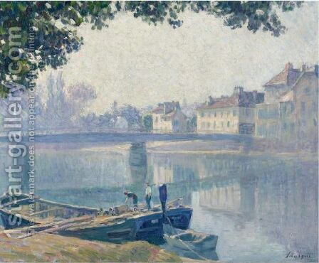 Les Bords De La Marne by Henri Lebasque - Reproduction Oil Painting